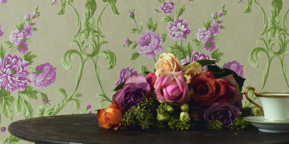 Tapeten floral und fröhlich