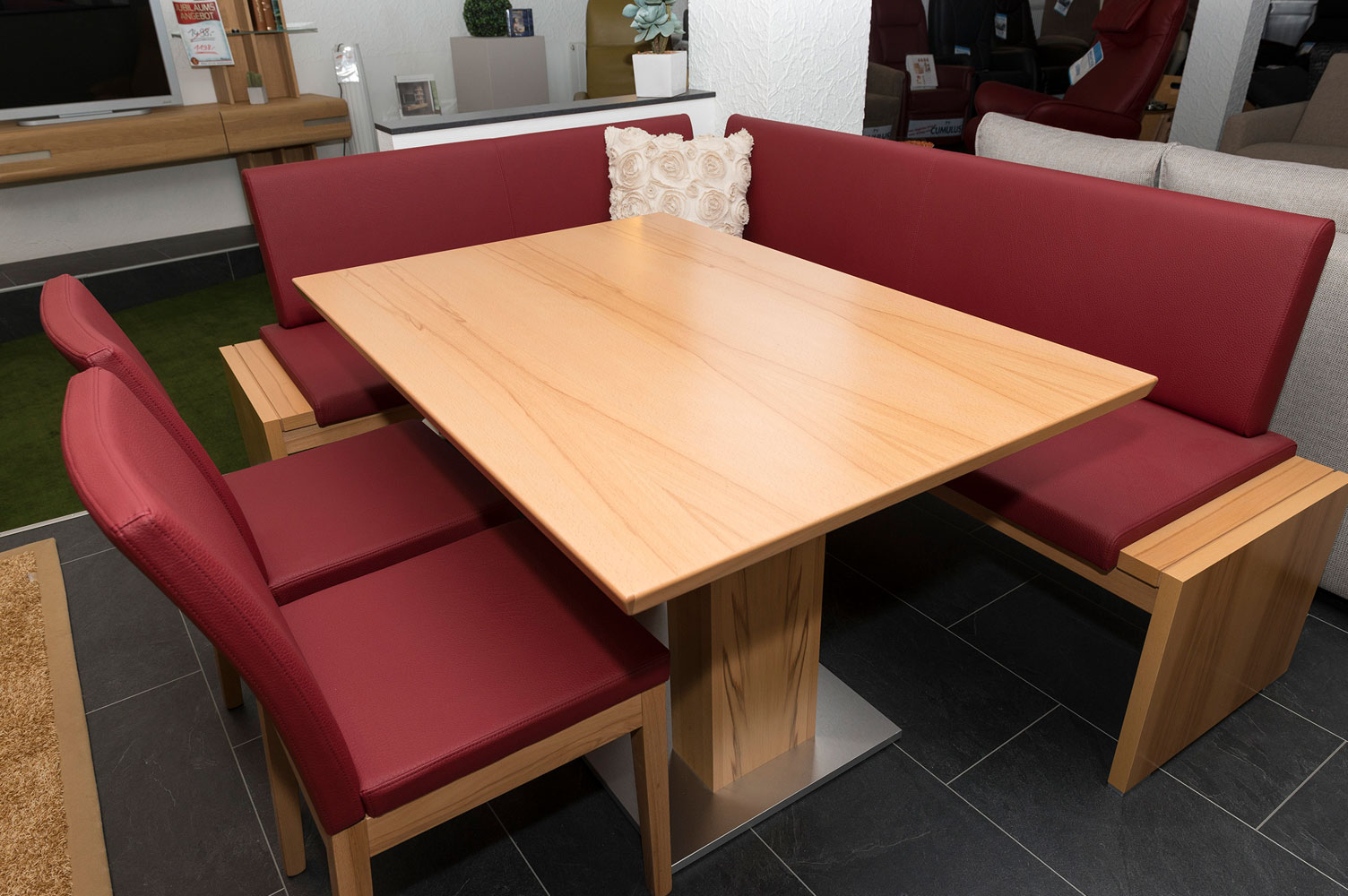 Essgruppe holz/rot