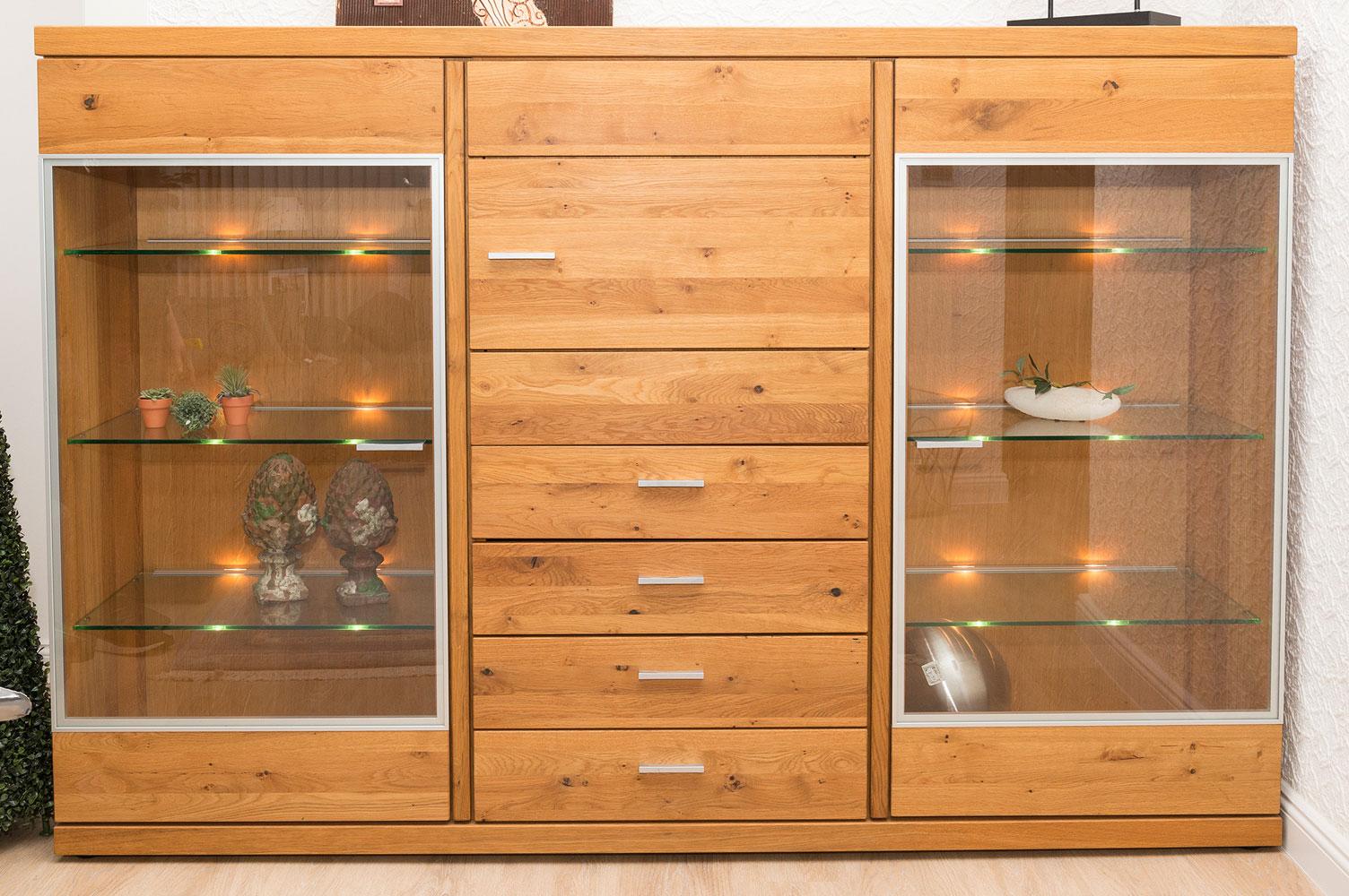 highboard mit glaselementen m bel schmidt waldb ckelheim. Black Bedroom Furniture Sets. Home Design Ideas