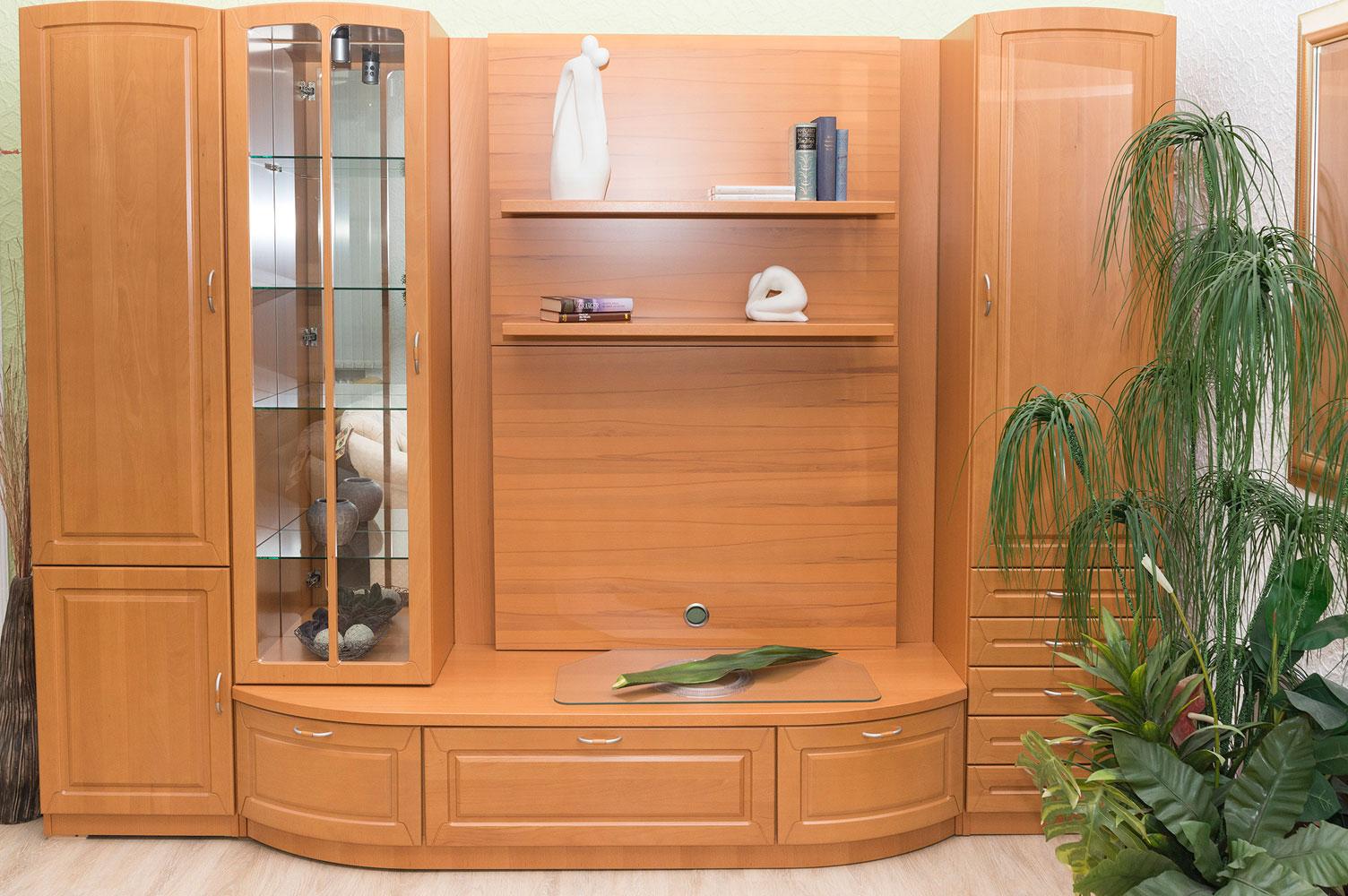 schrankwand mit viel stauraum m bel schmidt waldb ckelheim. Black Bedroom Furniture Sets. Home Design Ideas