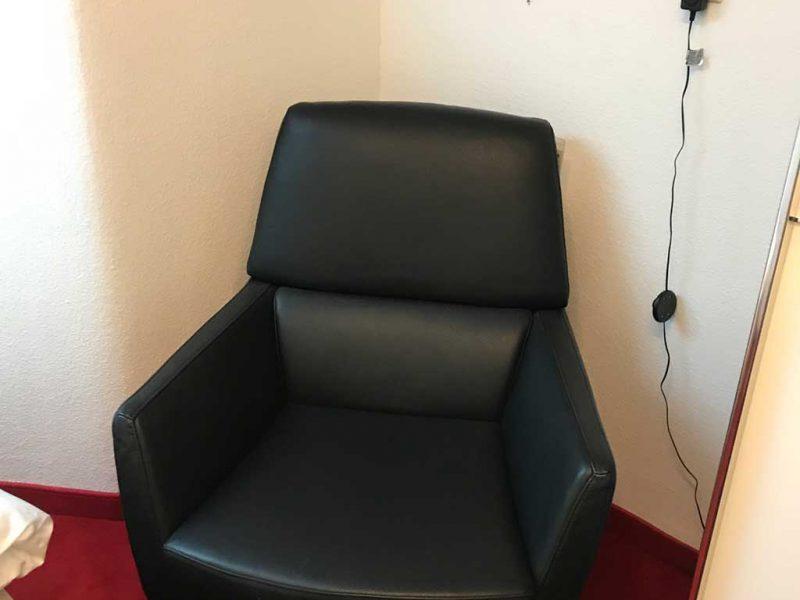 Sessel Leder schwarz