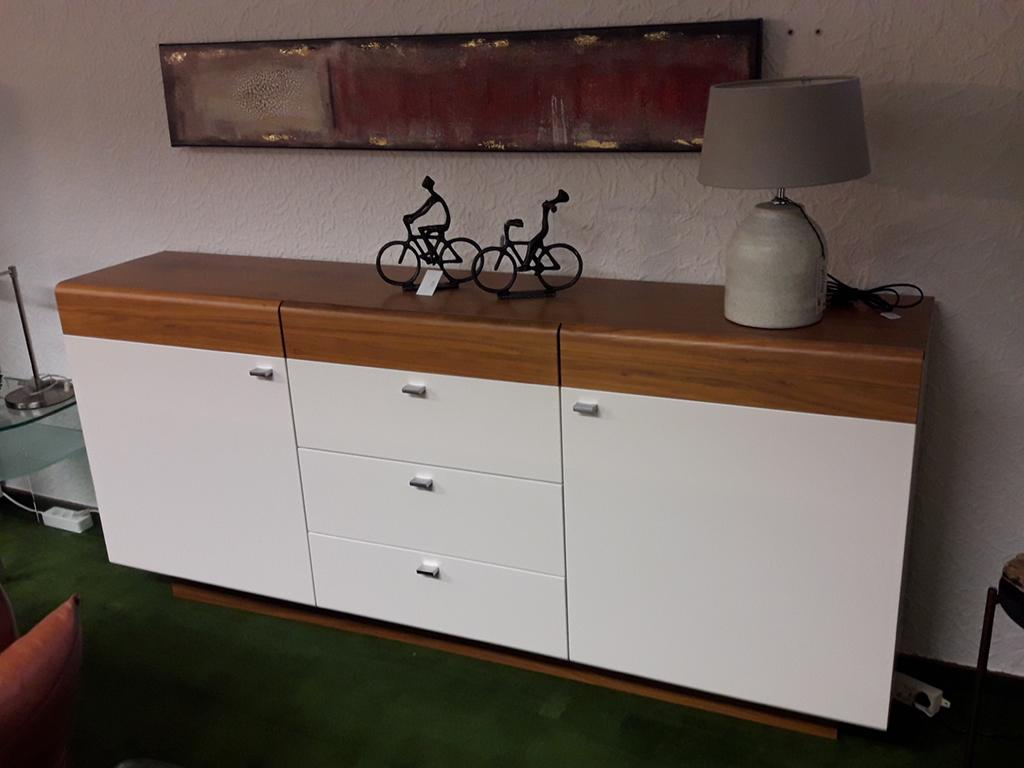 Sideboard Einzelstück/Nußbaum Echtholzfurnier/Lack weiss