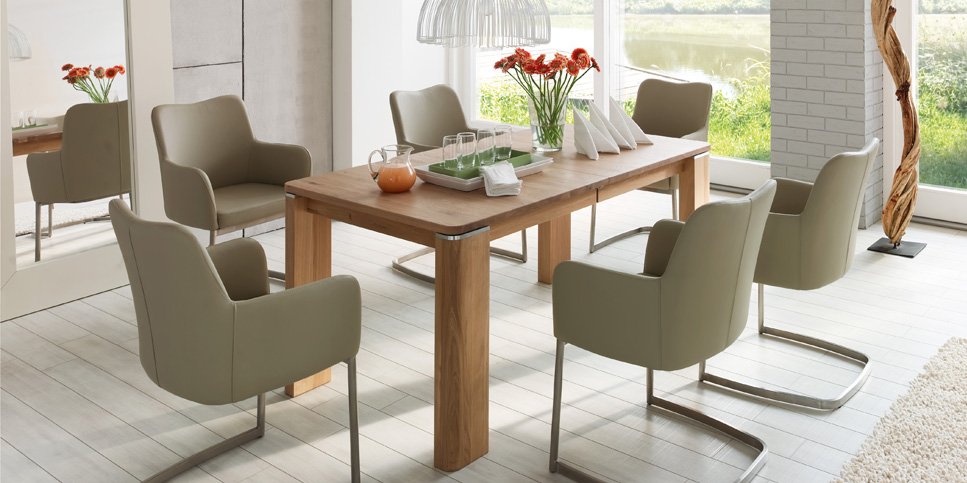 Moderner Stil mit Holz-Esstisch
