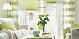 Gardinen, Bordüren, Vorhänge – Streifenmuster mit Ornamenten sorgt für Frische!