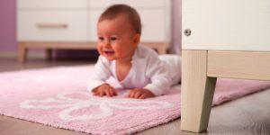 Babys Zimmer in zartrosa