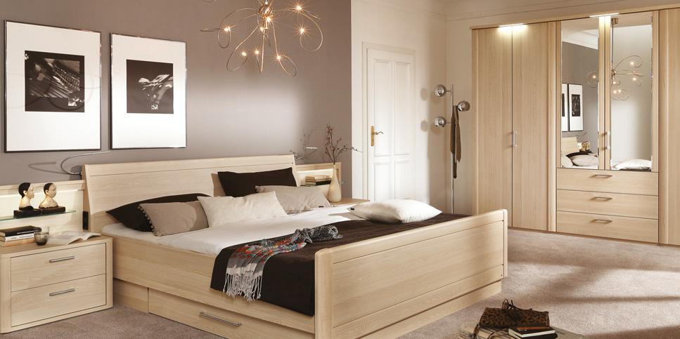 Helle Farben, helle Stimmung im Schlafzimmer