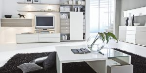 Wohnwand TV Lowboard weiss