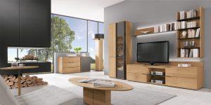 TV-Bank Kombination mit Regal